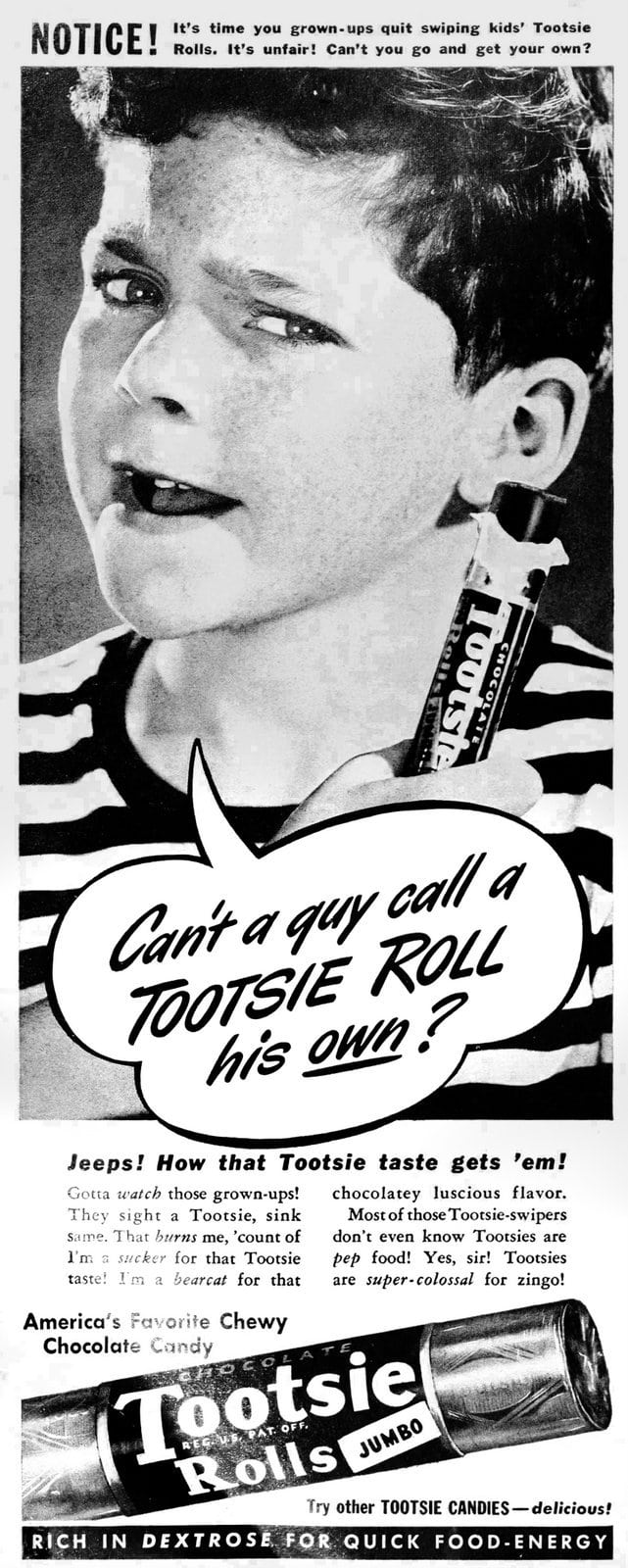 A Tootsie Roll of his own - Jumbo size (1936)