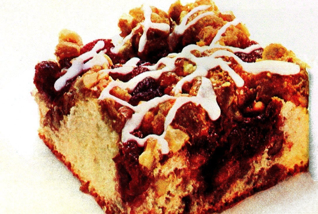 A classic breakfast recipe from the '70s for cranberry-nut coffee cake - just like grandma used to make-001