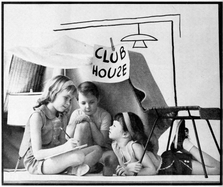 A club for under-the-chair men - Fun activities for bored kids - ideas from the 1960s