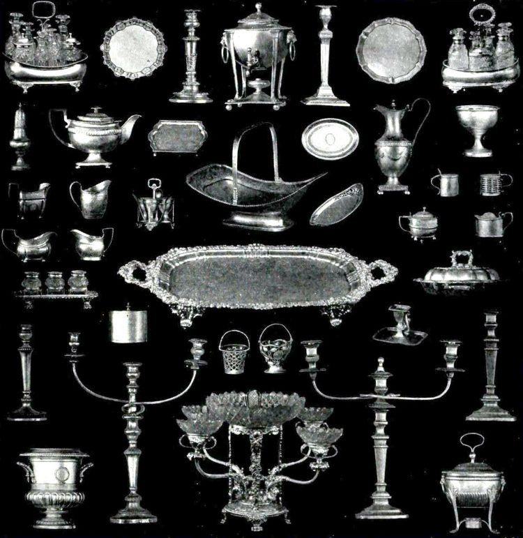 A collection of beautiful silver serveware and more