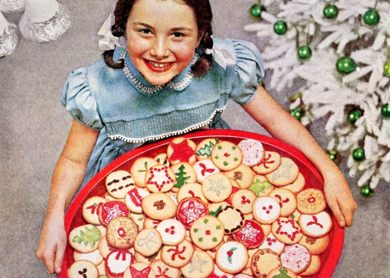A collection of classic Christmas cookies from the 50s