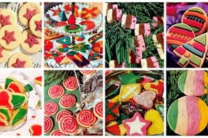 A collection of cute & colorful classic Christmas cookies