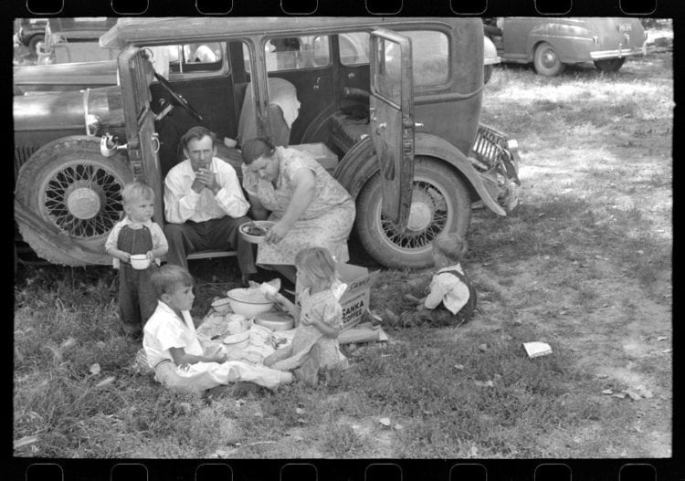A family picnic on the Fourth of July 1941