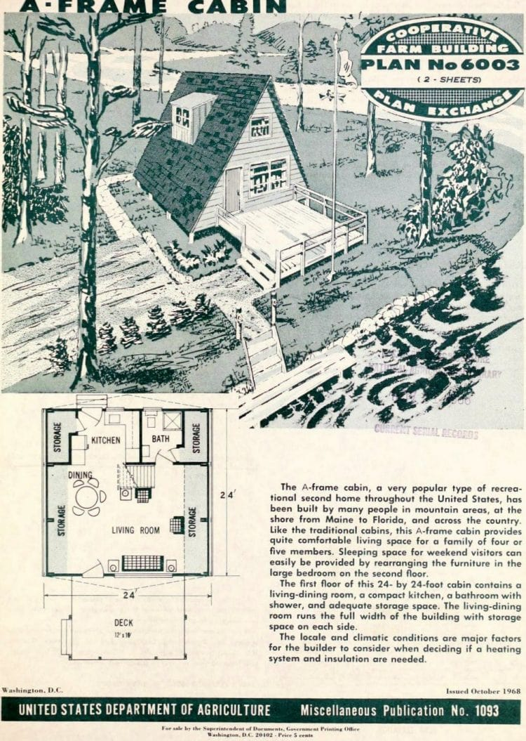 A-frame cabin design from the 60s