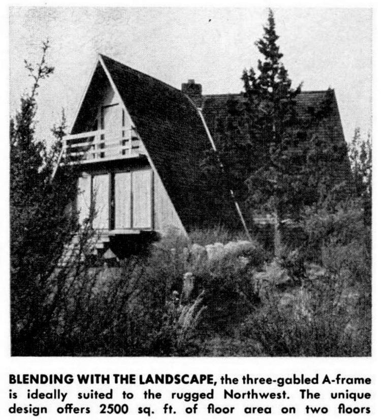 A-frame cabin or second home design from 1966