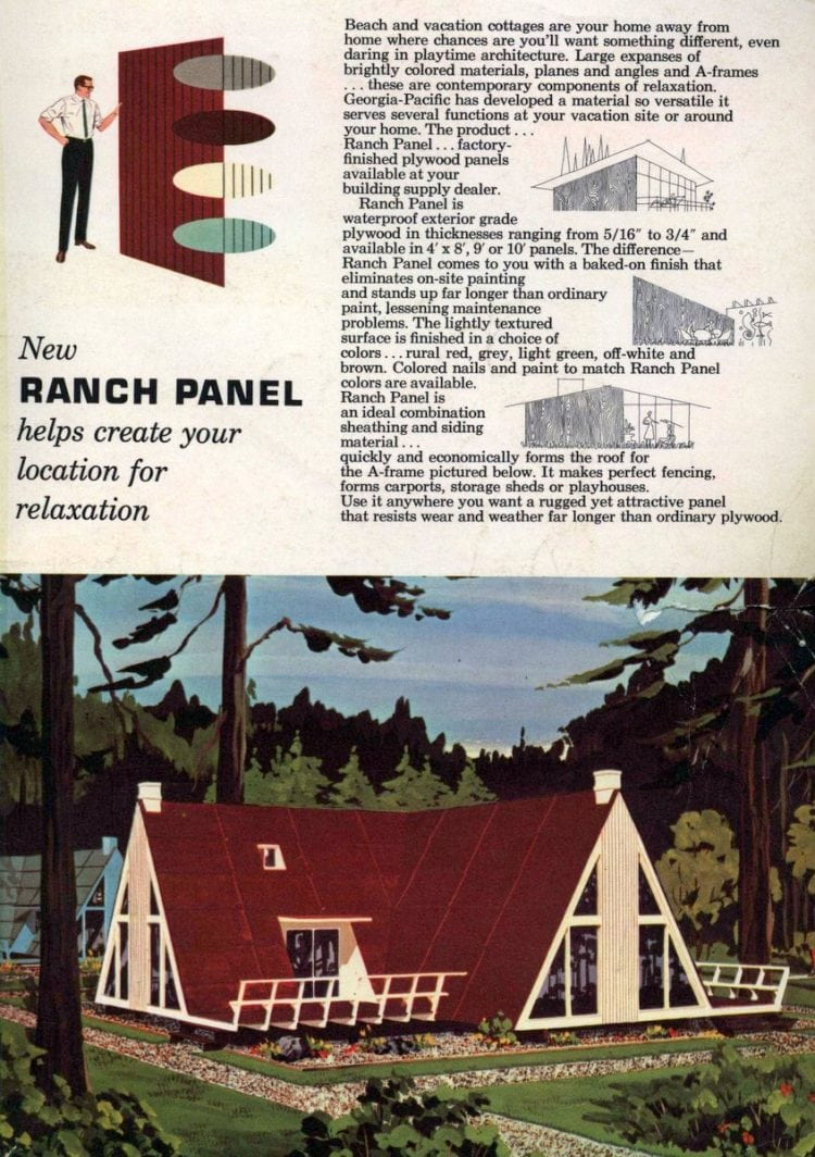 Four-family A-frame vacation home (1962)