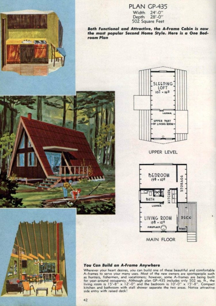A-frame home designs - Georgia Pacific vacation house plans from 1962 (3)
