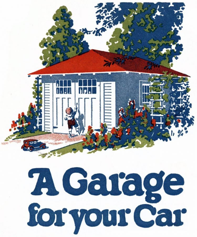A garage for your car 1920s