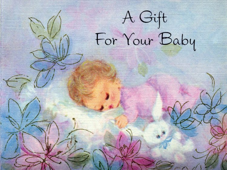 A gift for your baby - Card from 1969