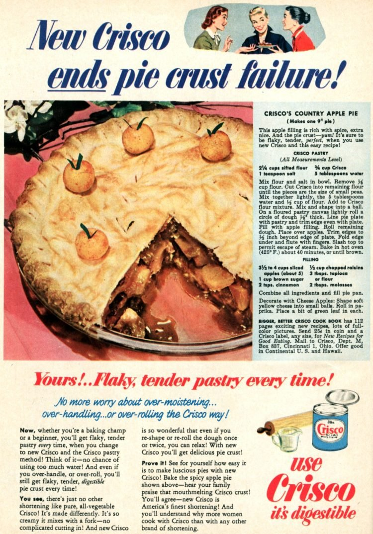 A good old-fashioned country apple pie recipe from the fifties (2)