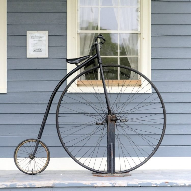 A high wheel bicycle - penny-farthing bike