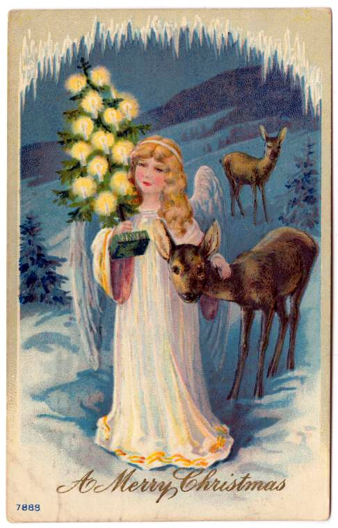 A merry Christmas - Antique card from 1911