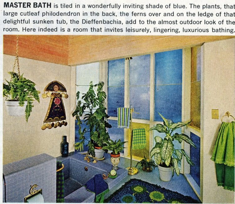 A mid-century modern home design and decor 1965