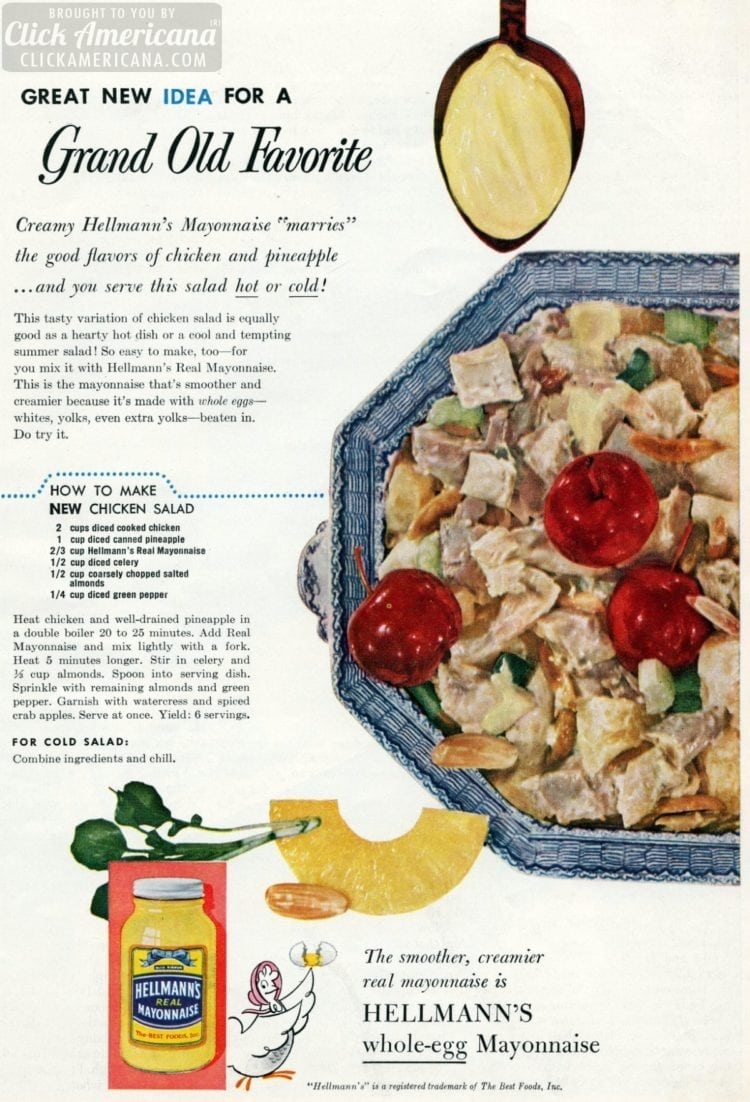A new way to make chicken salad (1955)