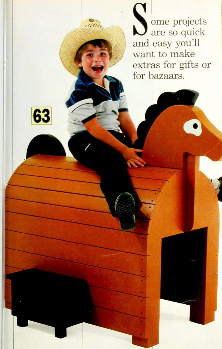 A ride-on horse playhouse (1986)