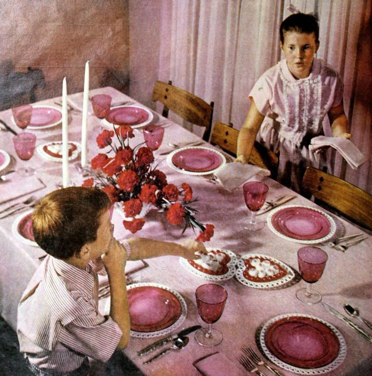 A table for Valentine's Day 1959