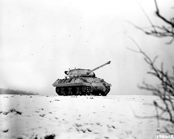 A tank - 1945 Battle of the Bulge, from US DOD