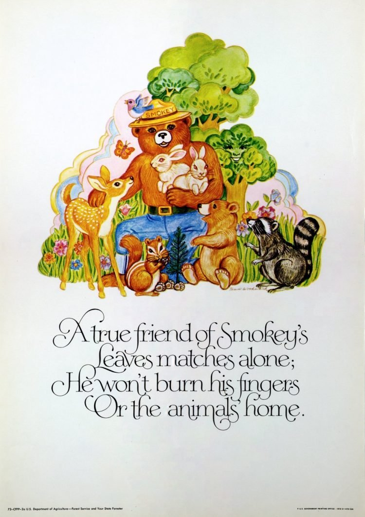 A true friend of Smokey vintage PSA poster 1972