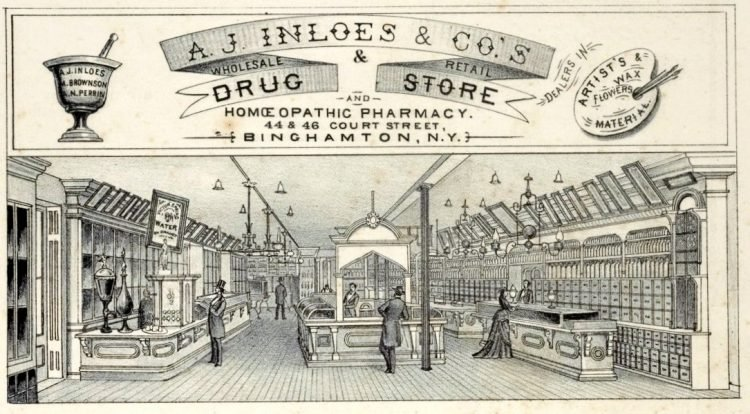 A.J. Inloes & Co.'s Wholesale & Retail Dealers in Drug & Store and Homoeopathic Pharmacy 1876