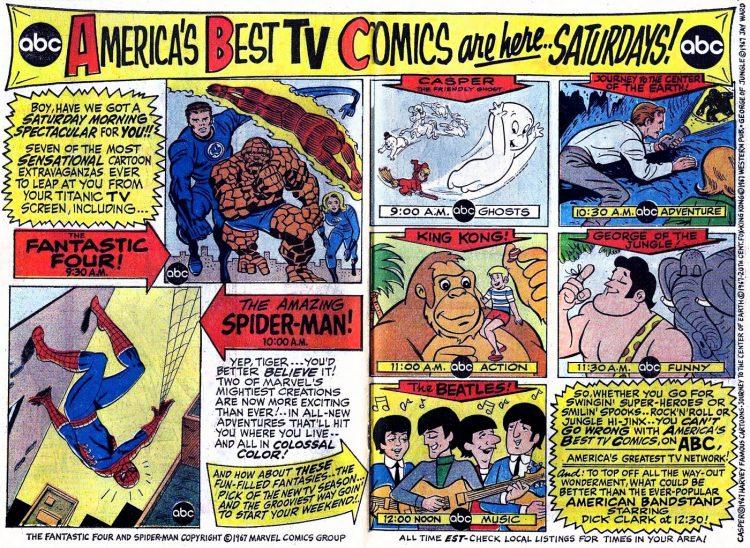 ABC Americas best TV comics - Marvel 1967