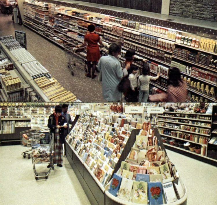 A and P vintage 1970s supermarket in 1973
