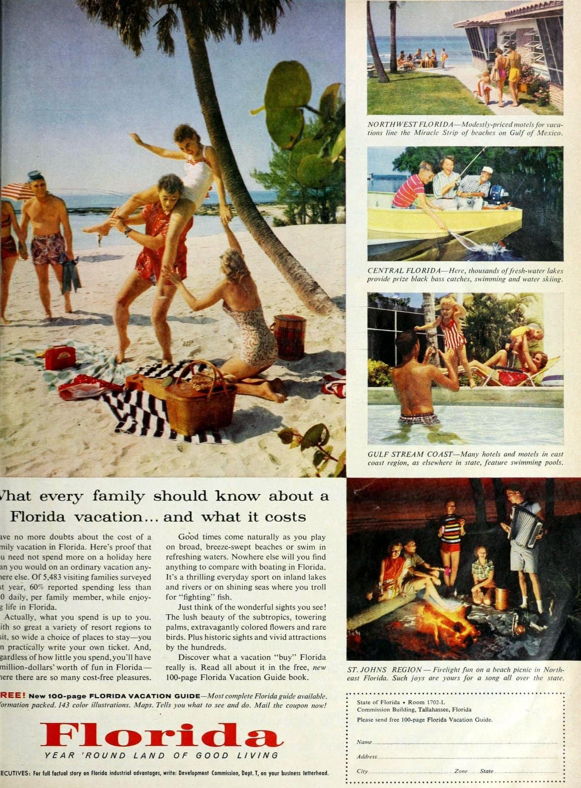 About family vacations in vintage Florida of the fifties (1958)