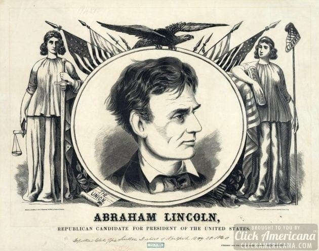 Abraham lincoln republican candidate for president of the united