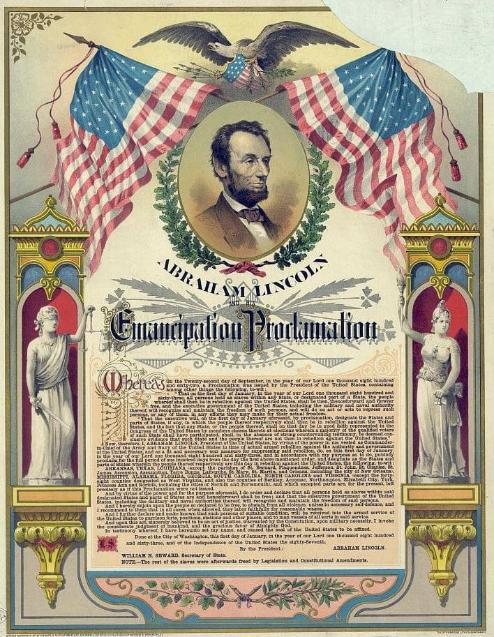 Abraham Lincoln and his Emancipation Proclamation 1888