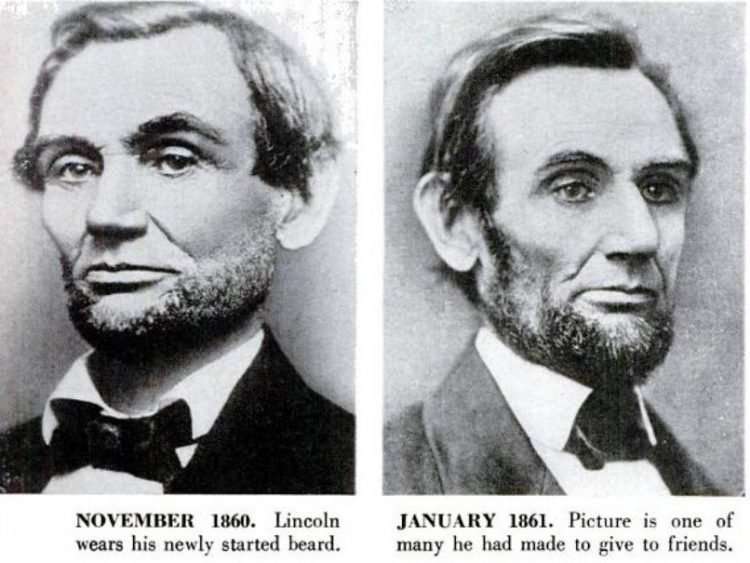 Abraham Lincoln historical portraits from 1860-1861