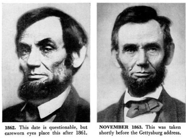 Abraham Lincoln historical portraits from 1862-1863