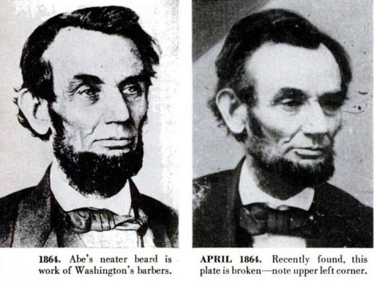 Abraham Lincoln historical portraits from 1864