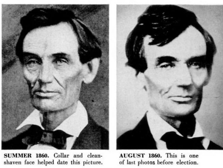 Abraham Lincoln historical portraits from summer 1860