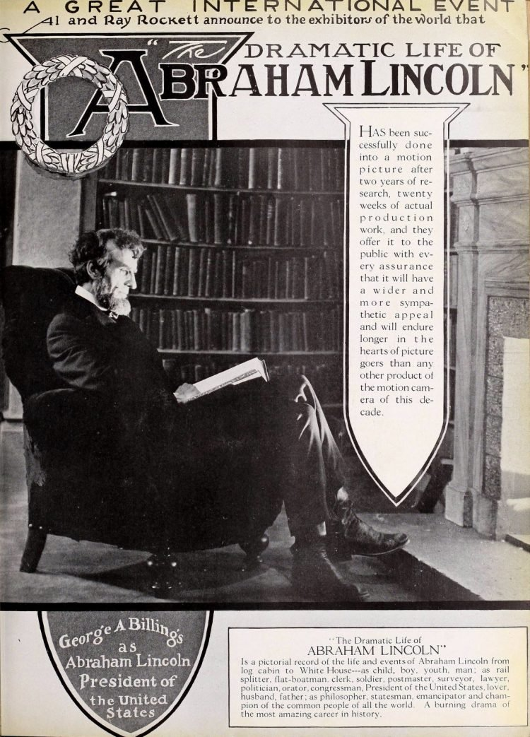 Abraham Lincoln movie from Moving Picture World Sept 1924 (2)