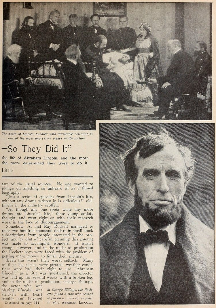 Abraham Lincoln movie from Picture Play magazine 1924 (1)