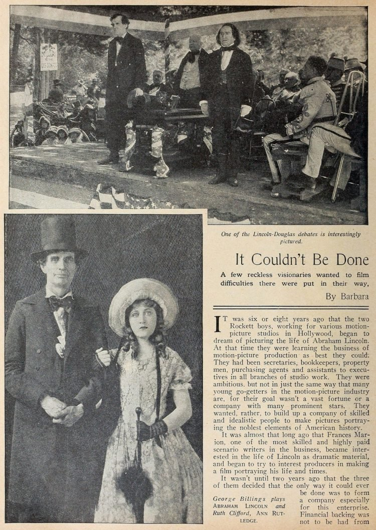 Abraham Lincoln movie from Picture Play magazine 1924 (2)