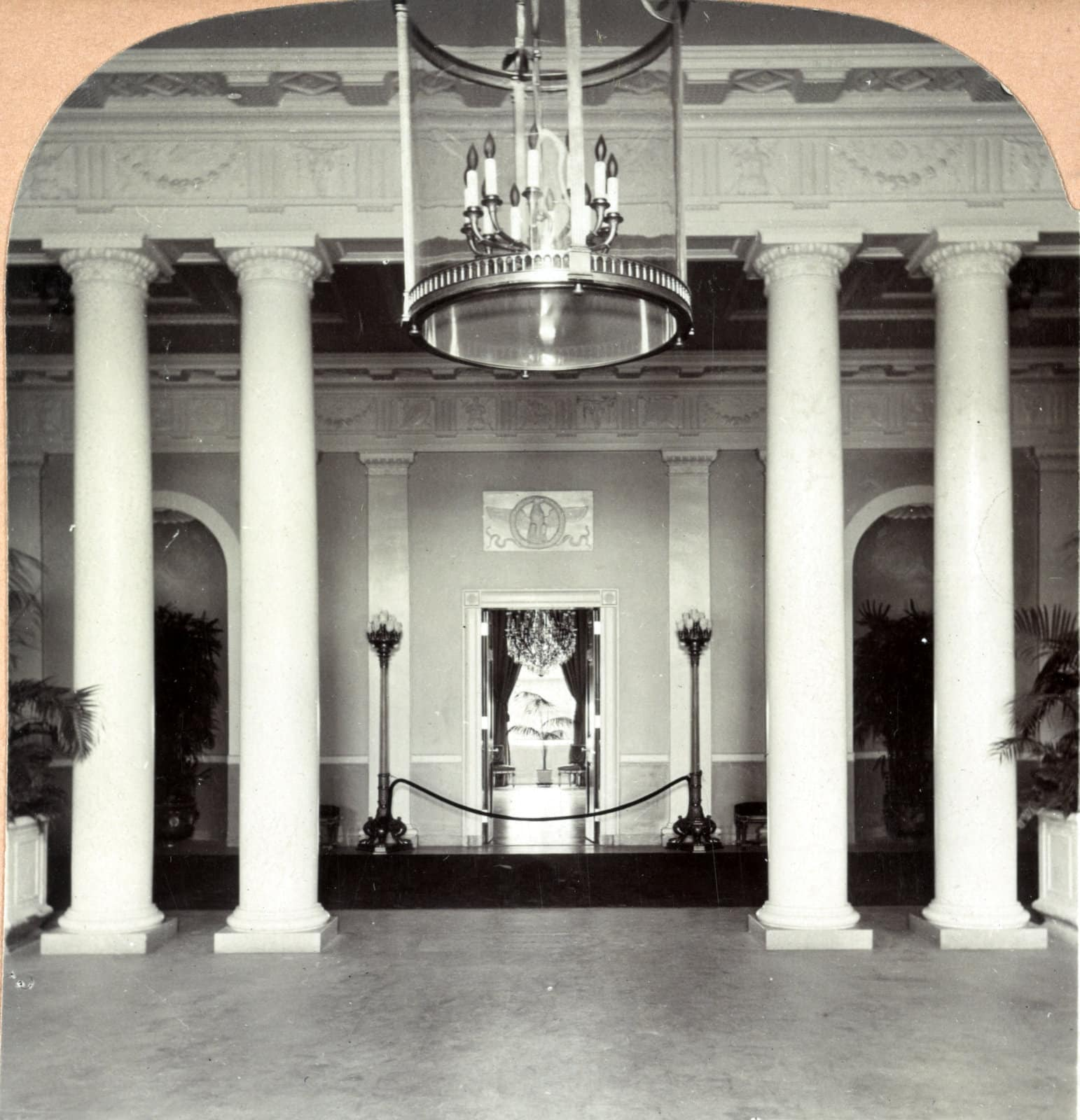 Across the hall from the Blue Room (1903)