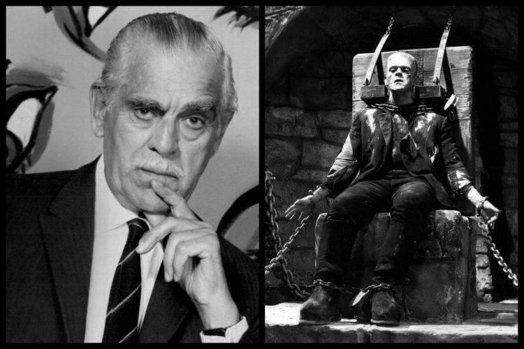 Actor Boris Karloff c1960 and as Frankenstein's monster