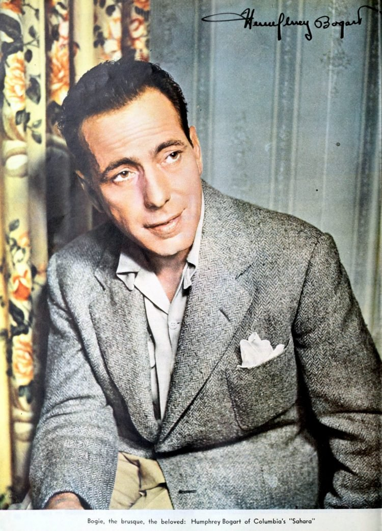 Actor Humphrey Bogart with autograph - signature from the forties