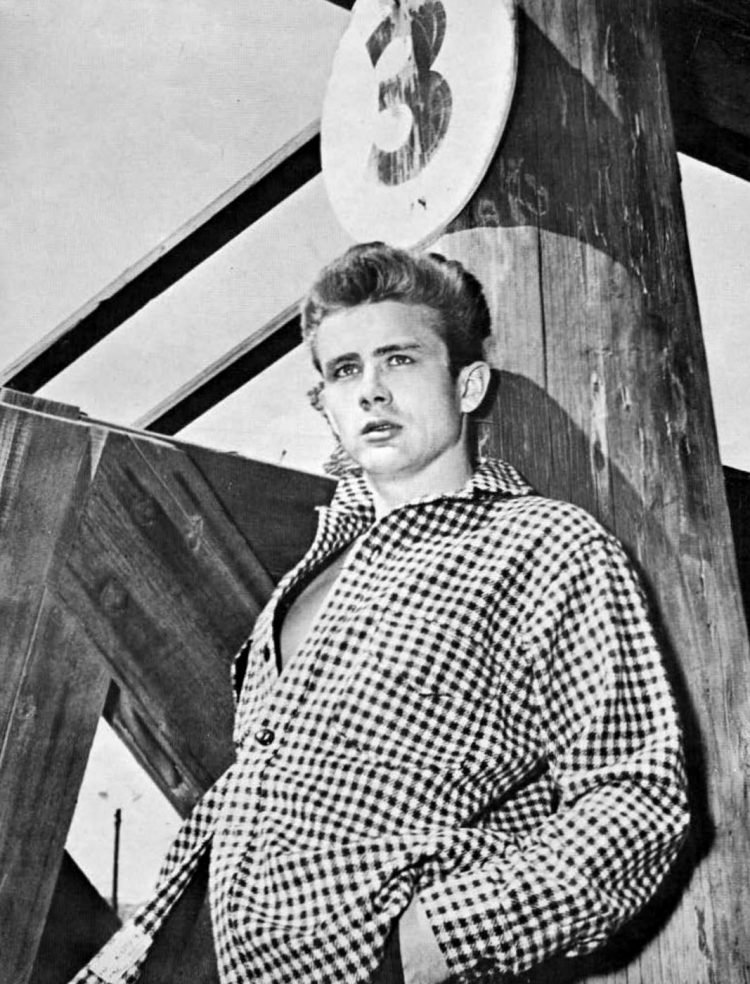 Actor James Dean in the 50s