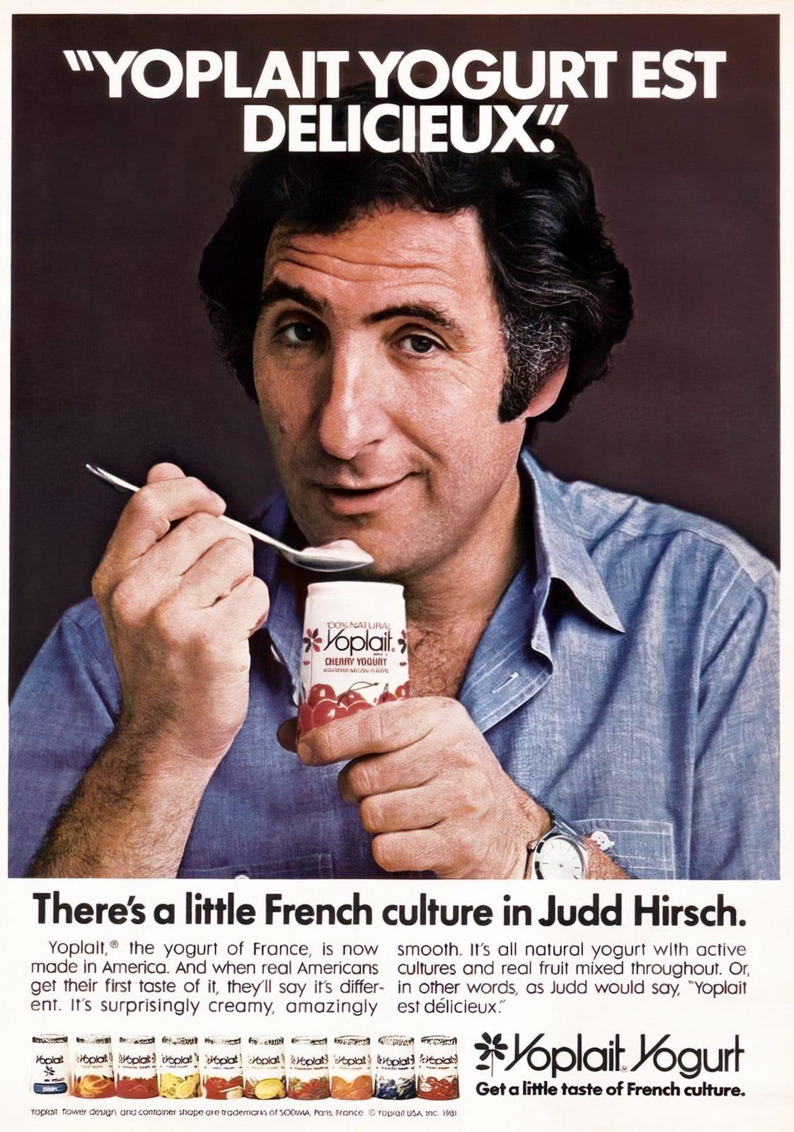 Actor Judd Hirsch ad for Yoplait Yogurt - Vintage 1981