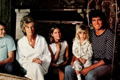 Actor Michael Landon and family at home - 1975