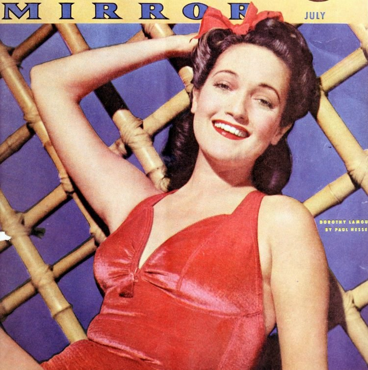 Actress Dorothy Lamour - Photoplay Movie Mirror cover c1941