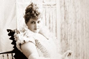 Actress Lillian Russell - Victorian hairstyle 1891