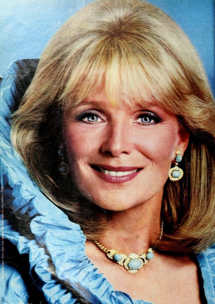 Actress Linda Evans for Ultress hair color 1986 (2)