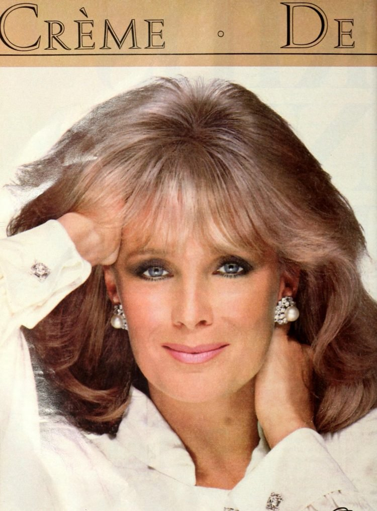 Actress Linda Evans for Ultress hair color - 1987 (2)