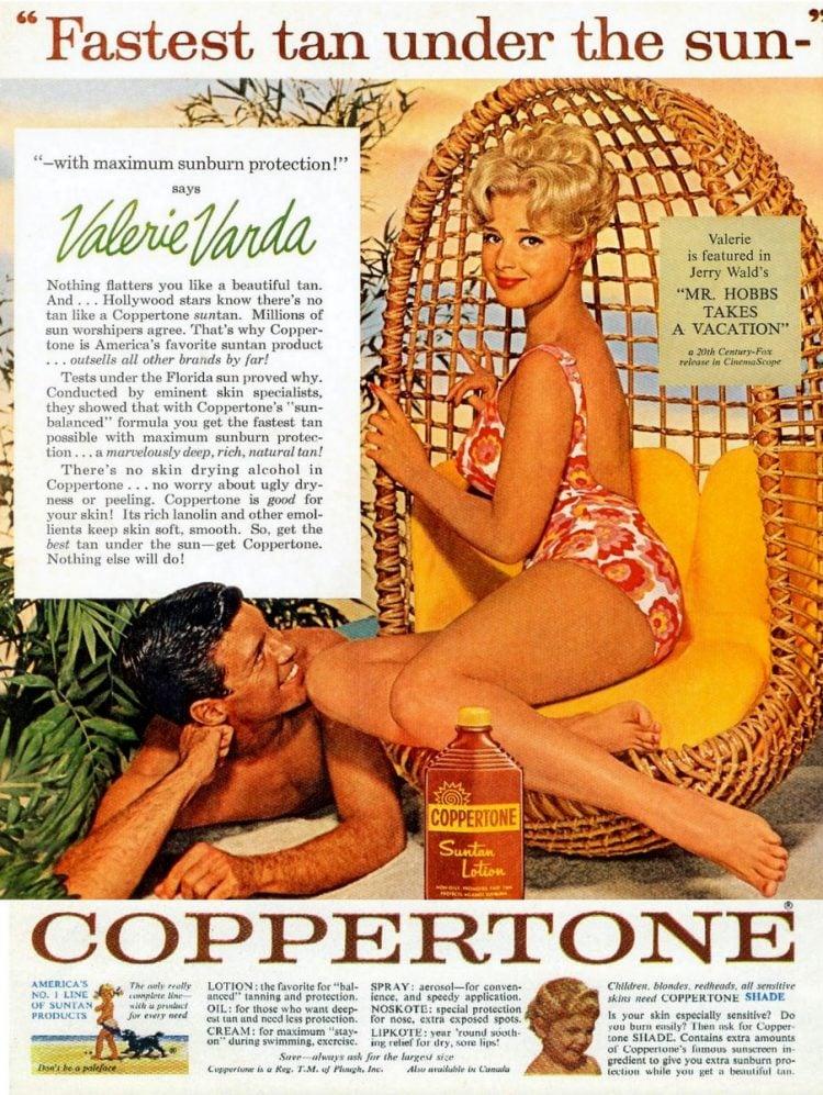 Actress Valerie Varda Fastest tan under the sun (1962)