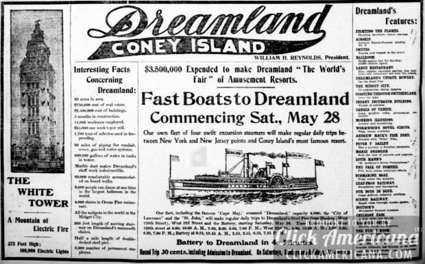 Ad from The New York Tribune, May 27 1904-dreamland-coney-island