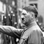 Adolf Hitler giving nazi salute