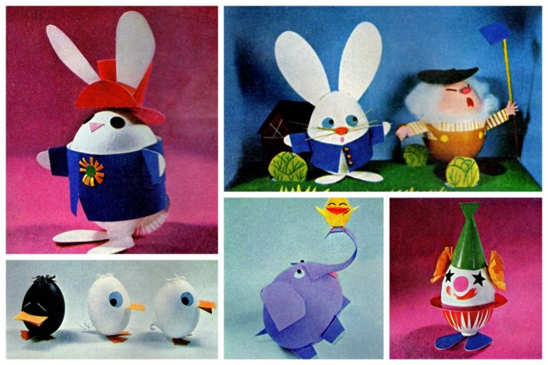 Adorable vintage Easter crafts from the '60s