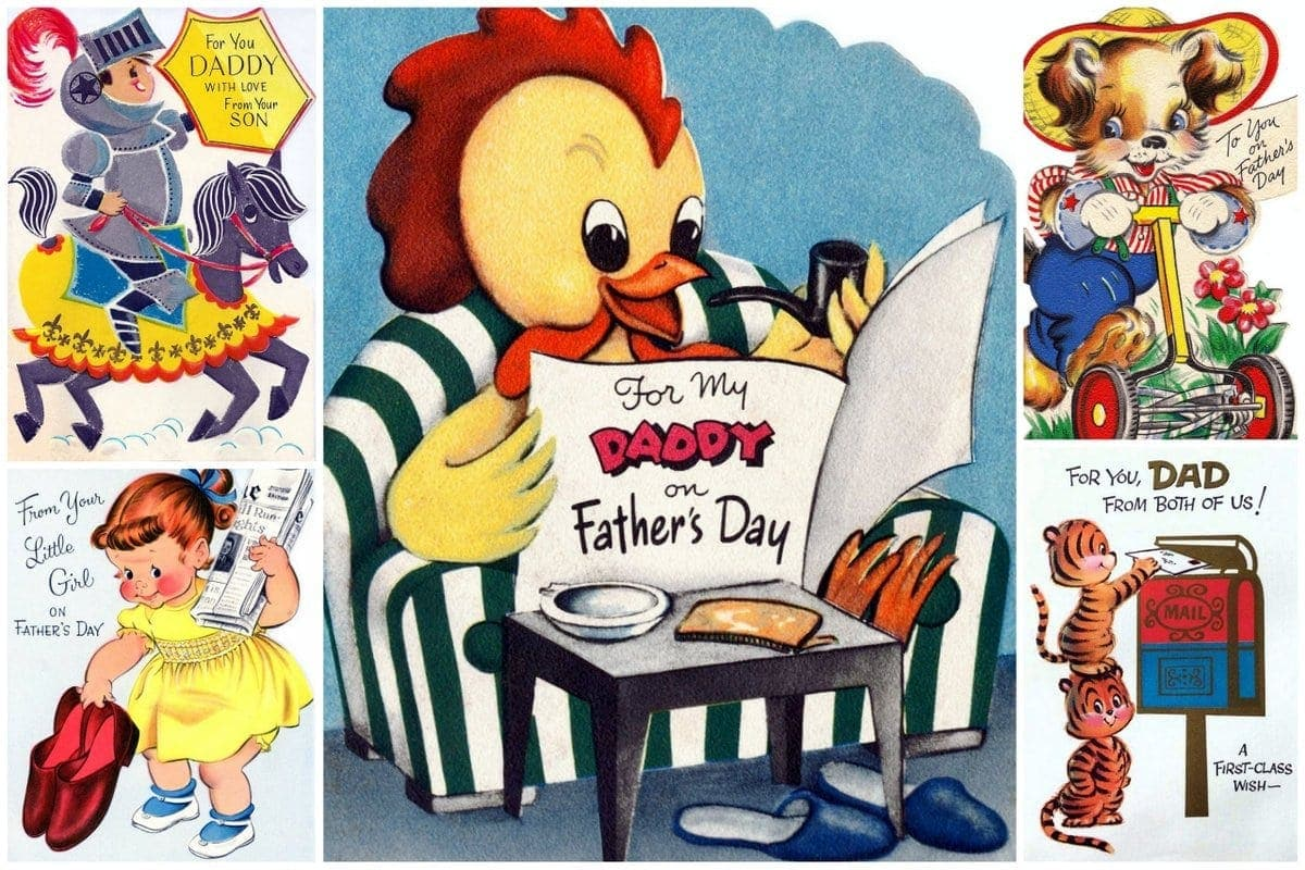 Adorable vintage Father's Day cards